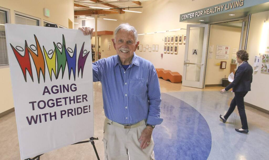 Gary 'Buz' Hermes at the Petaluma Health Center where he will be hosting the eight week 'Aging Together With Pride' group starting June 4 on Monday, May 23, 2016. (SCOTT MANCHESTER/ARGUS-COURIER STAFF)