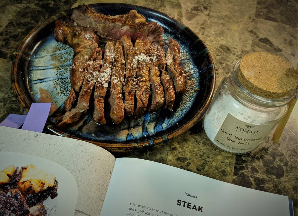 The main course was a perfectly seared steak, known as a txuleta. (Houston Porter / for the Argus-Courier)