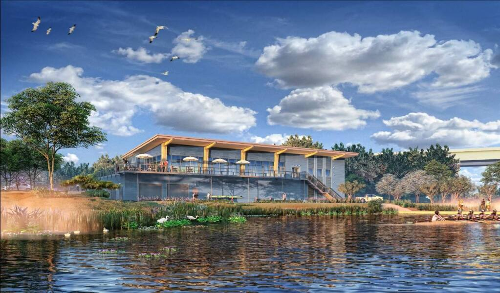 Plans for a boathouse at the Riverfront development near Highway 101 are moving forward.