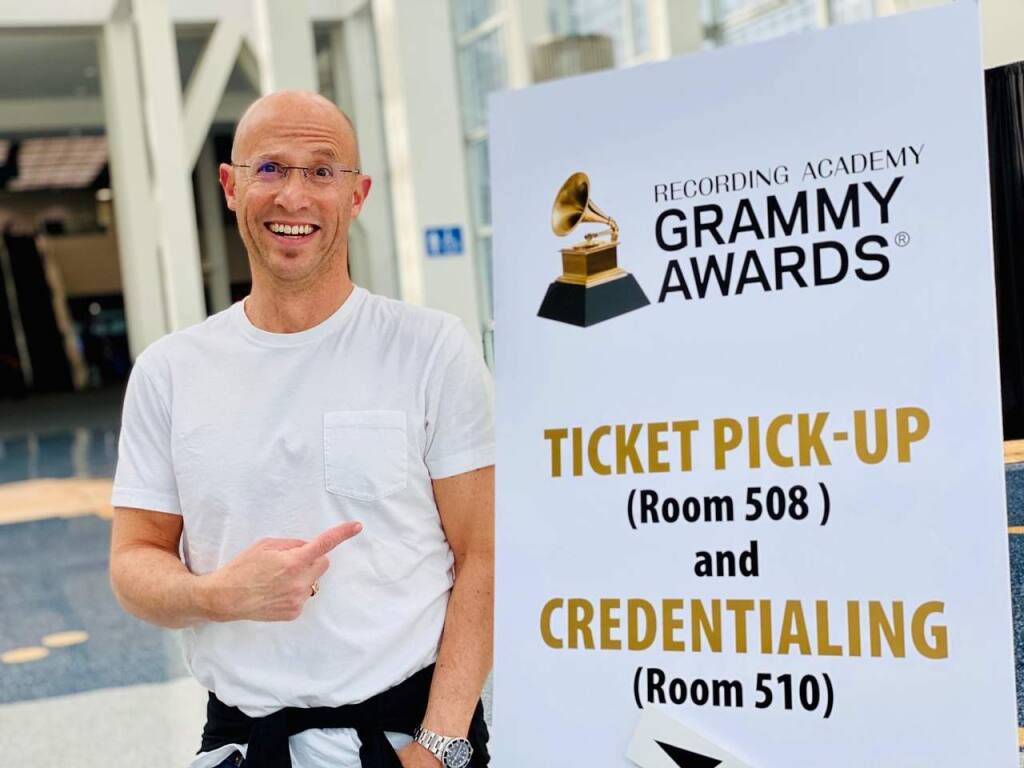 Cliff Goldmacher at the 2020 Grammys.
