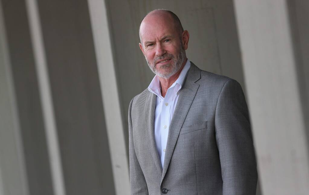 Chris Call is the CEO of North Bay Credit Union, which openly works with cannabis business clients. (Christopher Chung / The Press Democrat)