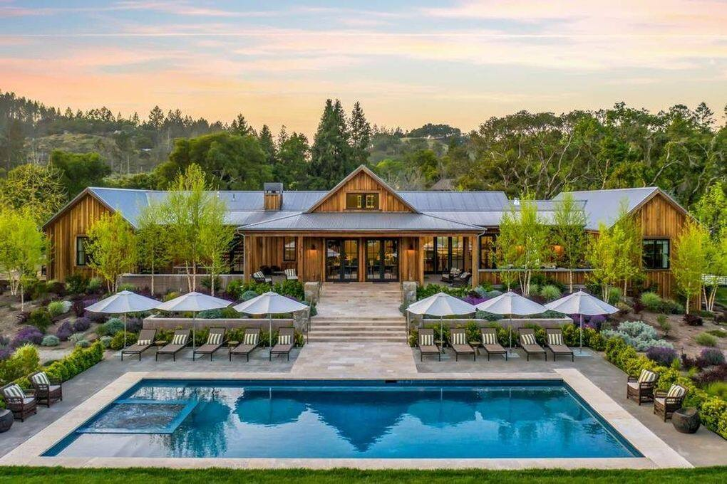 Recent house sales, like this $6,725,000 home on Lawndale Road in Kenwood, have helped push the median home price in Sonoma up over $1 million. (Realtor.com)