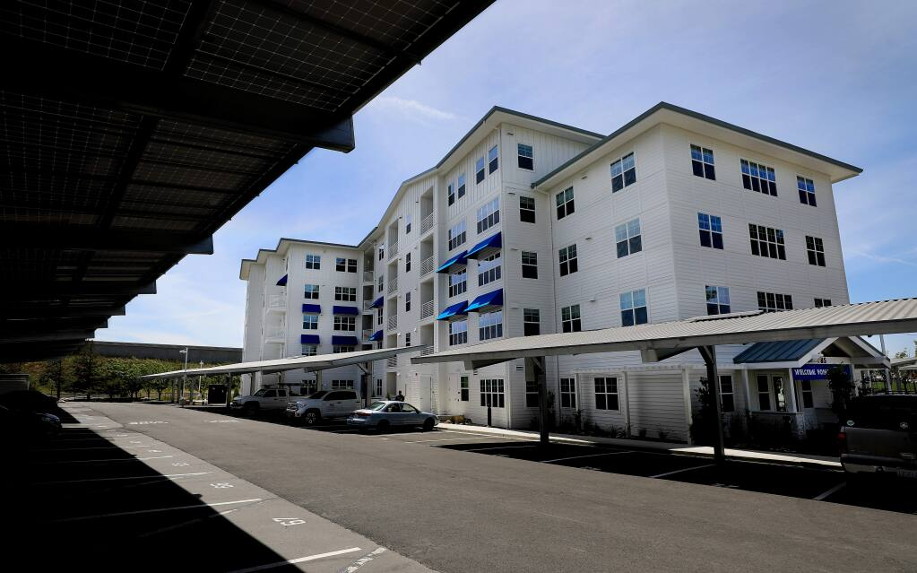 Marina Crossing, Sonoma State University's 90-unit apartment complex for faculty and employees, Wednesday, June 5, 2019 in Petaluma. (Kent Porter / The Press Democrat) 2019