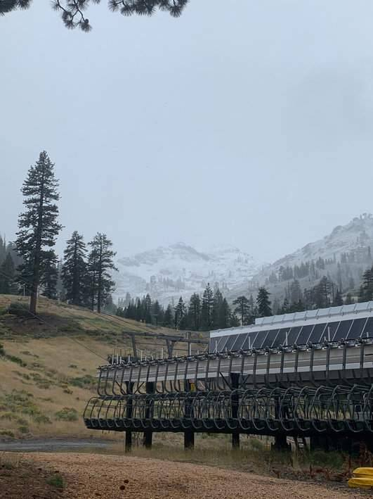 Snow falls on Squaw Valley's Lower Mountain on Monday, Sept. 16, 2019. (KRISTEN COSTA/ SQUAW VALLEY ALPINE MEADOWS)