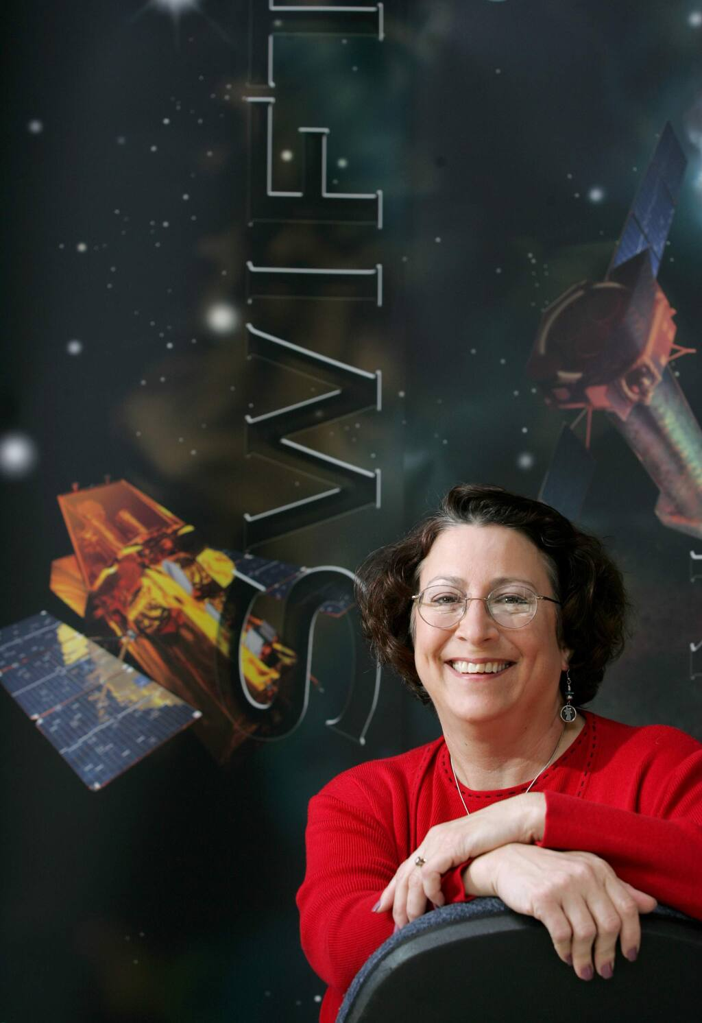 4/17/2005: D1: Sonoma State University professor Lynn Cominsky is an MIT-trained astrophysicist and a NASA adviser. She is program director for a NASA program that aims to explain the science of the universe to students, particularly in connection with the gamma-ray detecting Swift satellite, launched last year.PC: Photo by Christopher Chung/ The Press Democrat SSU Professor Lynn Cominsky is the program director for NASA's Edication Public Outreach program.