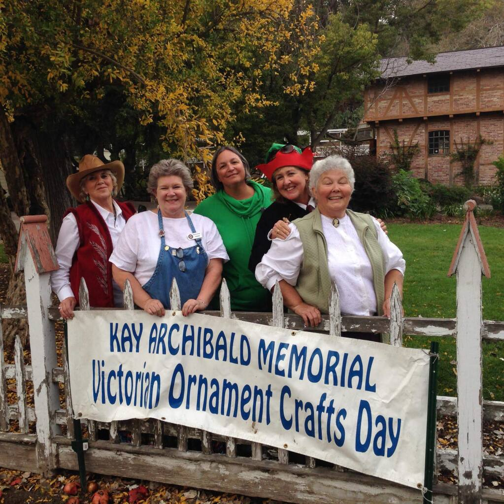 Helping bring the Victorian workshop to life each year are (left to right) Linda Davis, Yvonne Bowers, Jan Oneto, Jackie Barros and Anne Cox.