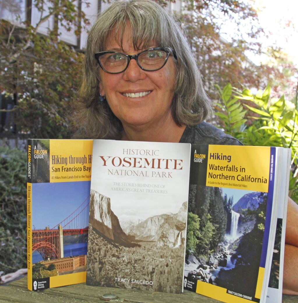 "Bill Hoban/Index-TribuneAuthor Tracy Salcedo will be at Readers' Books Thursday, July 14, to talk about her newest books, ""Hiking through History: San Francisco"" and ""Historic Yosemite National Park."""