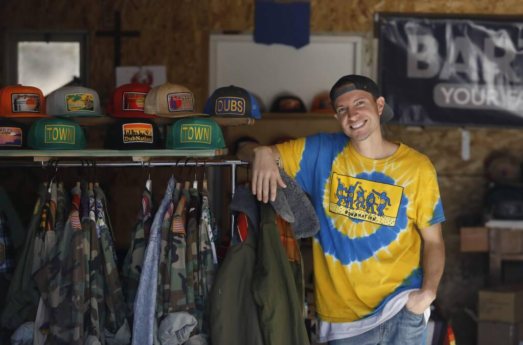 Bart Bridge founder and apparel designer Luke Fraser at the Bart Bridge studio on Thursday, January 24, 2019 in Vallejo, California . (BETH SCHLANKER/The Press Democrat)