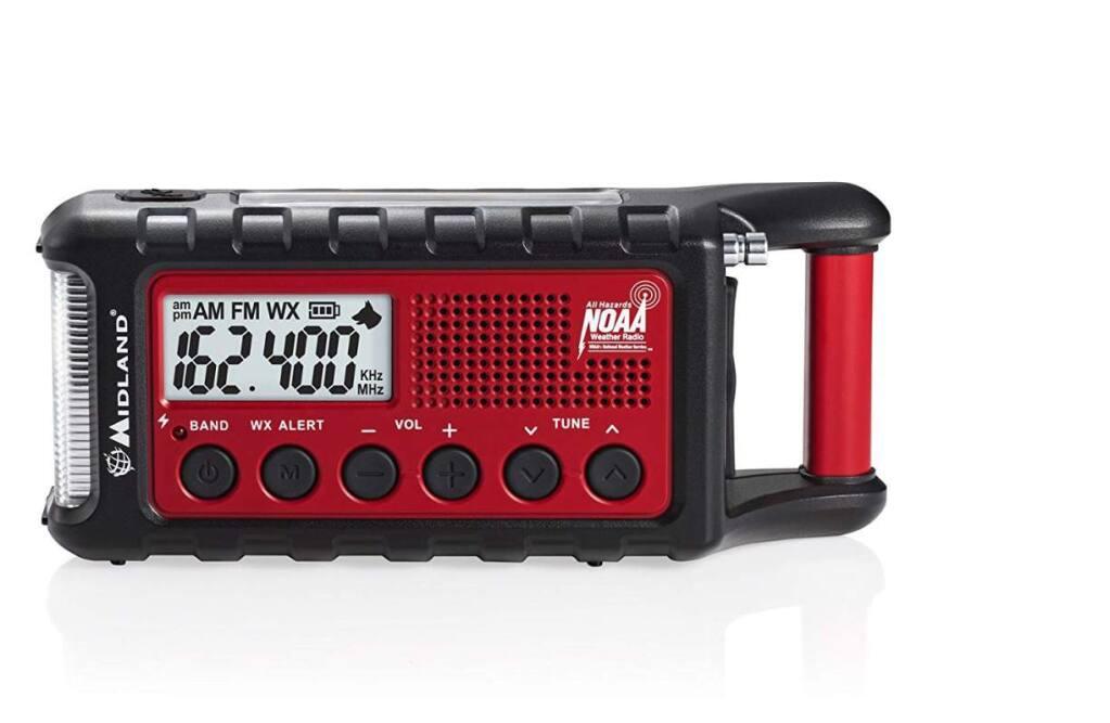 The Midland - ER310 is an emergency crank weather radio that costs $59.99 on Amazon. (AMAZON)