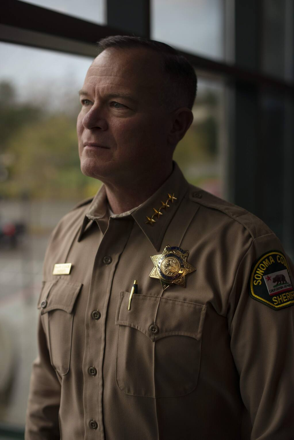 Sonoma County Sheriff Mark Essick photographed at the Sheriff's office building in Santa Rosa, California. January 5, 2019.(Photo: Erik Castro/for The Press Democrat)