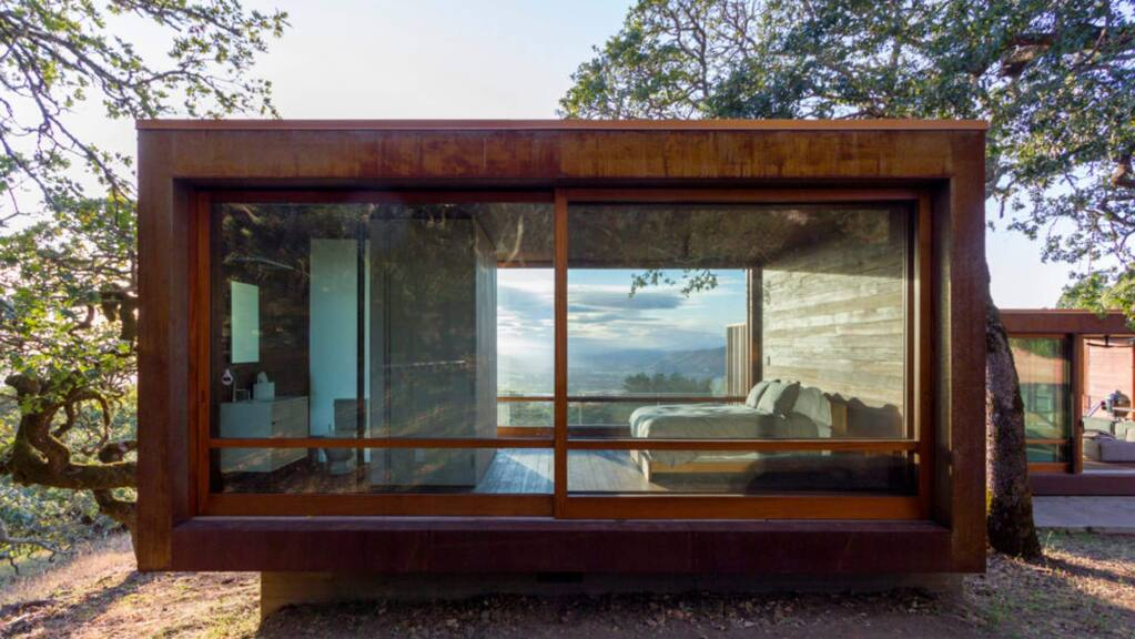 Alchemy's Sonoma weeHouse was designed in Minnesota for a client in San Francisco, built in Oregon, and shipped to its Santa Rosa site. (ALCHEMY ARCHITECTS)