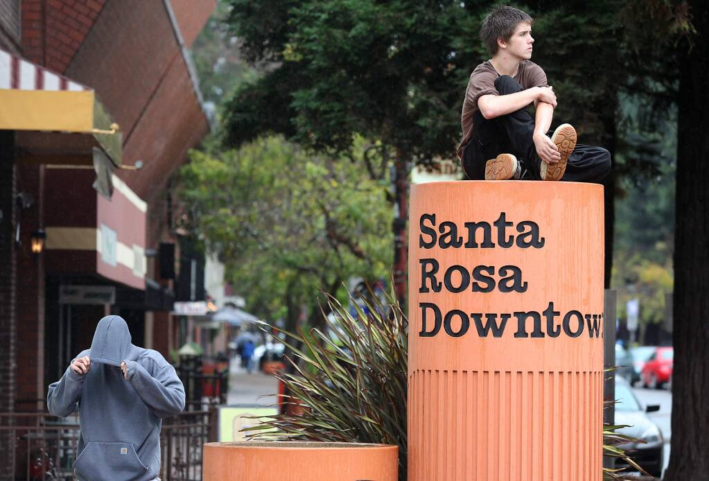 Downtown Santa Rosa has been designated an 'opportunity zone' under the 2017 federal tax law. (CHRISTOPHER CHUNG / The Press Democrat)