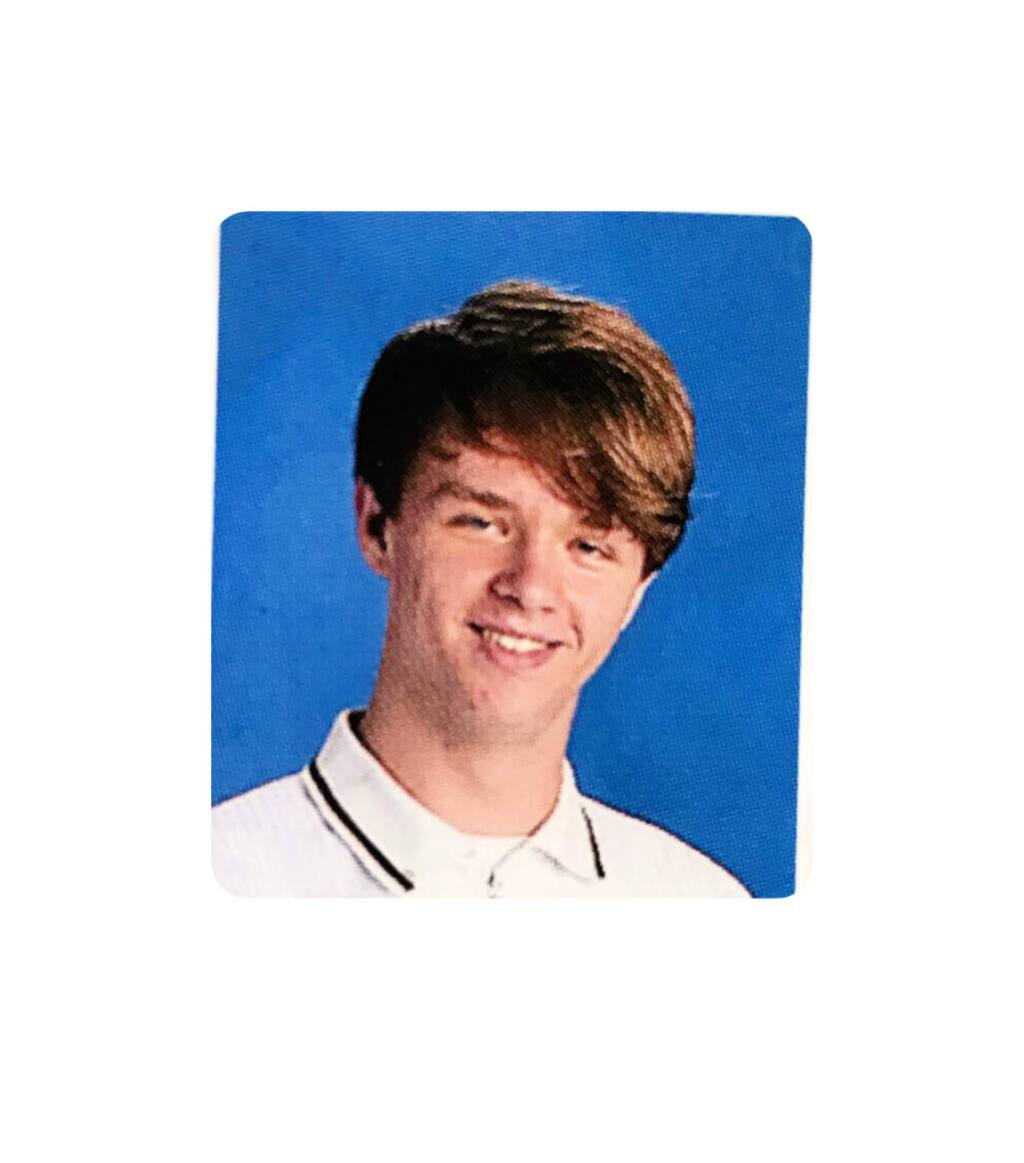Jake Paine in a yearbook photo from his junior year at Sonoma Valley High.