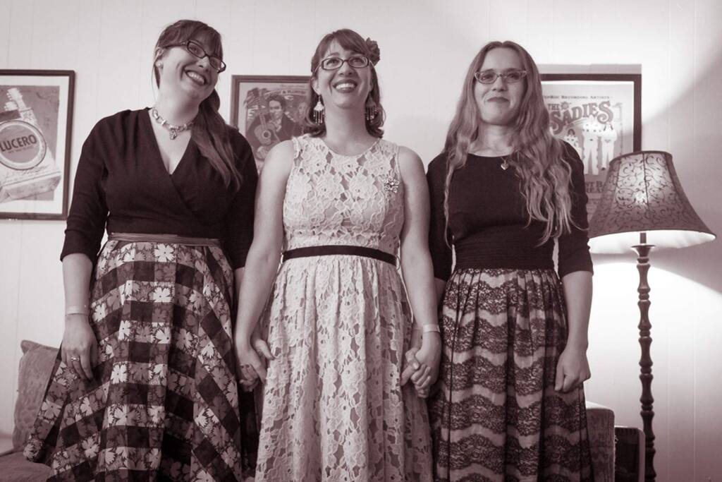 The Bootleg Honeys from Sonoma County are Alison Harris, Hannah Jern-Miller and Katie Phillips, taken at The Great American Music Hall. (COURTESY OF ERIN MORIARITY)