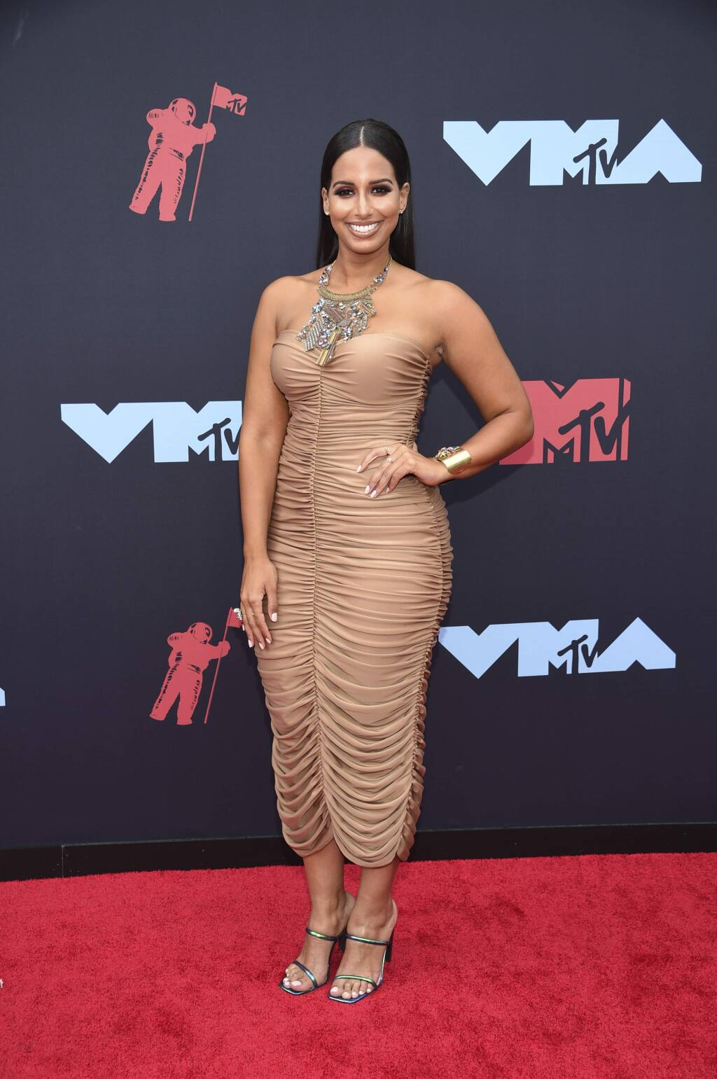 Nessa arrives at the MTV Video Music Awards at the Prudential Center on Monday, Aug. 26, 2019, in Newark, N.J. (Photo by Evan Agostini/Invision/AP)