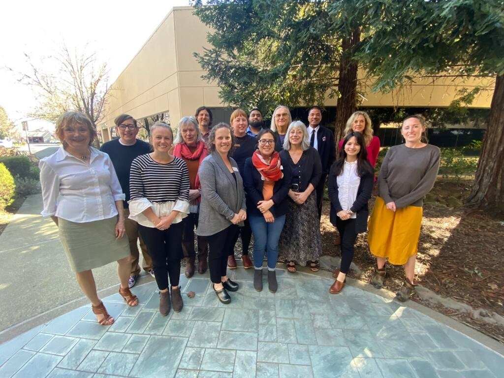 Petaluma Health Care District grant recipients gather at the district offices on Feb. 26, 2020. (courtesy photo)