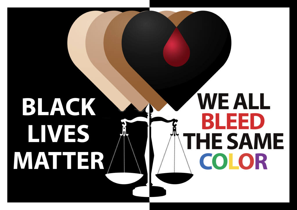 BLM JUSTICE - We all Bleed the Same Color