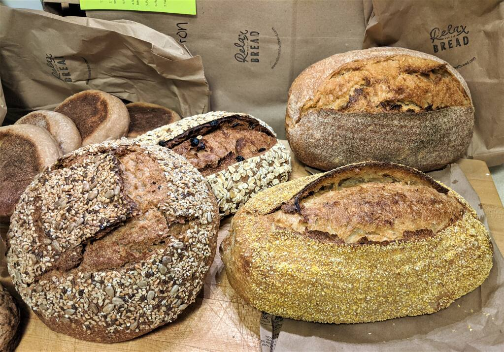 A selection of bread from Relax and Eat Bread, a Petaluma bakery. HOUSTON PORTER