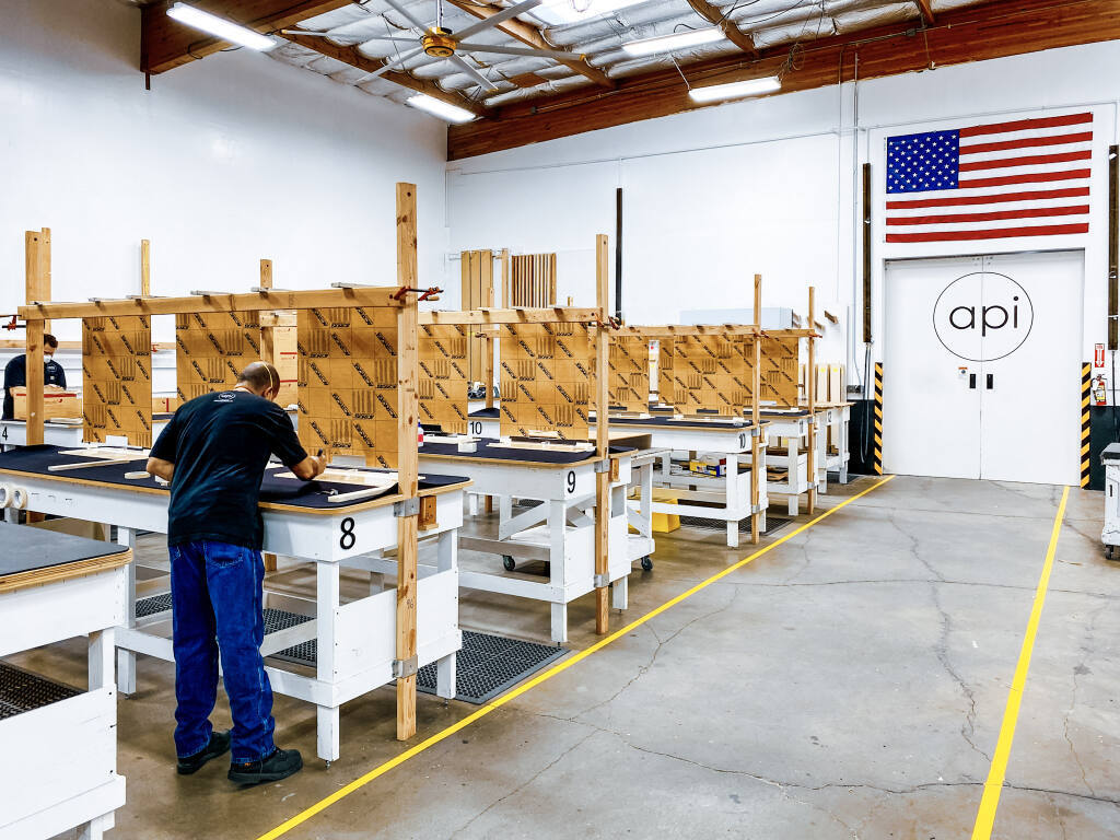 Architectural Plastics made thousands of face shields during the pandemic at its Petaluma plant. (Blake Miremont photo)