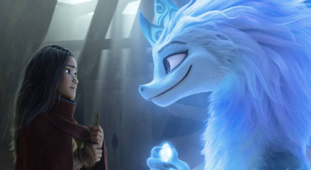 """""""Disney knows that gay representation offends people, so they don't actually do it for real,"""" suggests columnist Oliver Graves. In """"Raya and the Last Dragon,"""" some have suggested that a main character is gay. Graves says she's not, but the film would be better if she was. (Walt Disney Animation Studios)"""