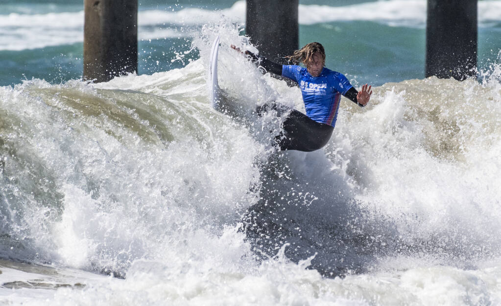 Huntington Beach police fatally shot an armed suspect on the beach Saturday afternoon as the U.S. Open of Surfing was underway nearby.Patrick Gadauskas of the United States surfs in the U.S. Open of Surfing at the pier in Huntington Beach, CA on Monday, September 22, 2021. The competition field is 96 men and 64 women, including some of the top 34 men and 17 women from the World Championship Tour. (Photo by Paul Bersebach, Orange County Register/SCNG)