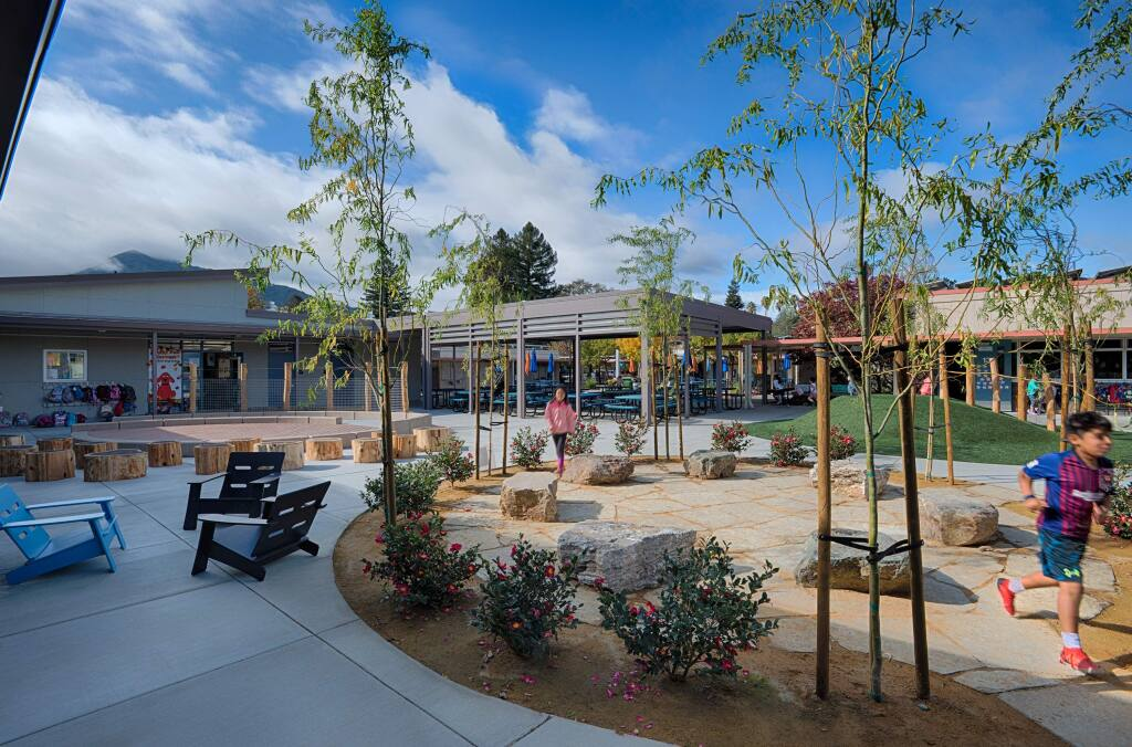 Bacich Elementary School gets a new classroom and administration building in Greenbrae in 2019. (courtesy photo)