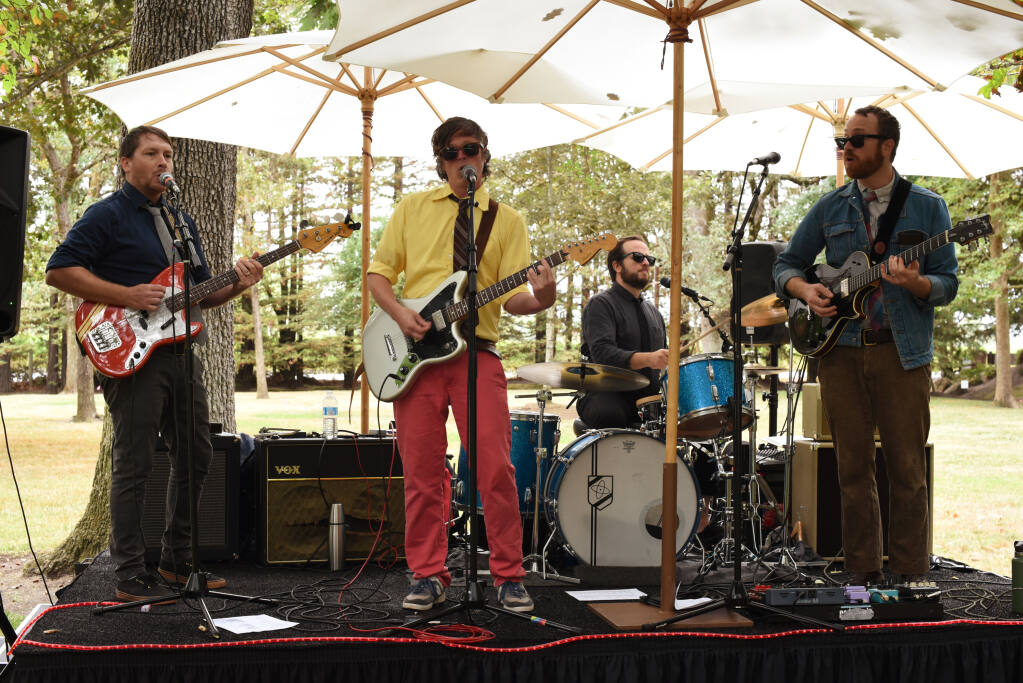 Jimmy Duvet & The Comforters providing musical entertainment during the reception at the Sonoma County Wine Auction held at La Crema Estate at Saralee's Vineyard in Windsor, Calif., on Saturday, September 18, 2021. (Photo: Erik Castro/for The Press Democrat)