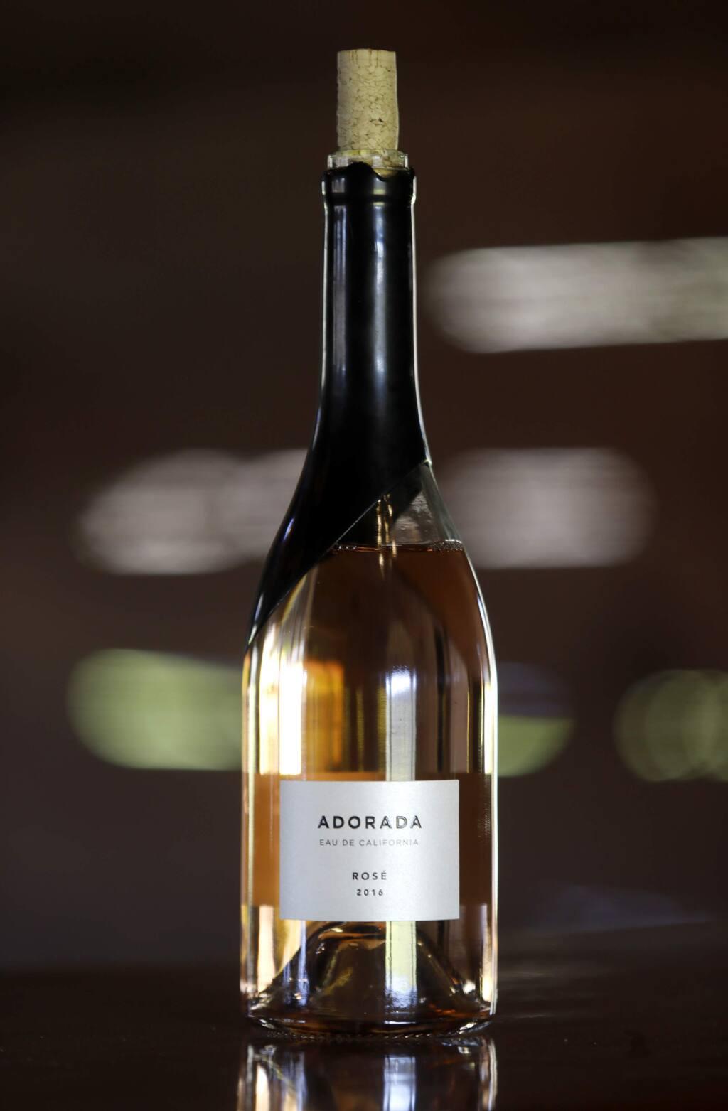 2016 Adorada rose wine at Fetzer Vineyards in Hopland, on Thursday, February 8, 2018. (BETH SCHLANKER/ The Press Democrat)