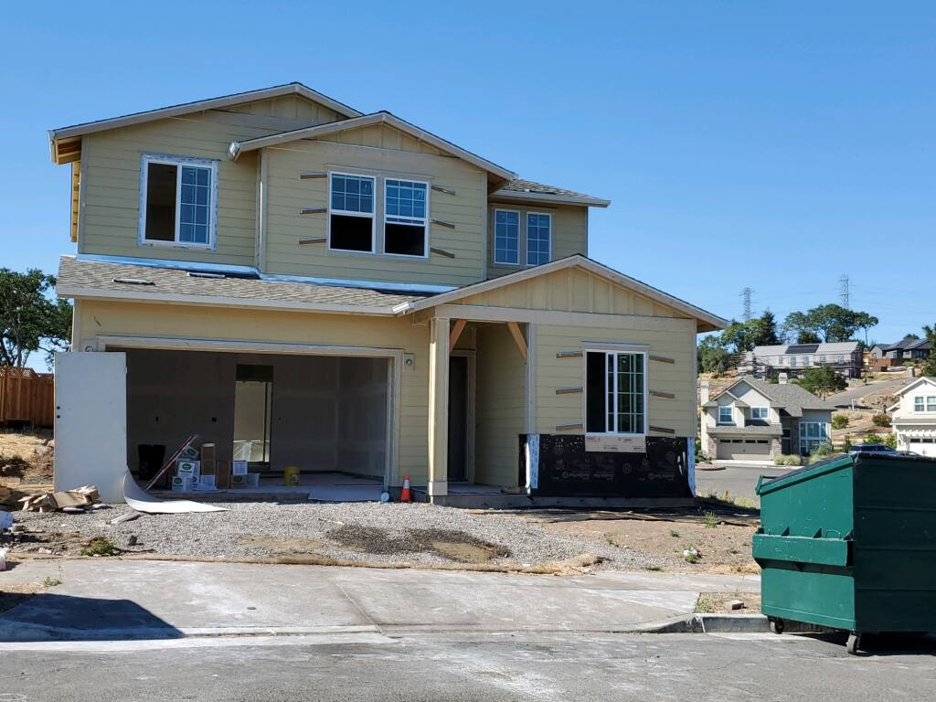 Christopherson Builders is constructing this home on a lot that was burned when the 2017 Tubbs Fire raced through the Fountaingrove neighborhood of northeast Santa Rosa. (courtesy of Christopherson Builders)