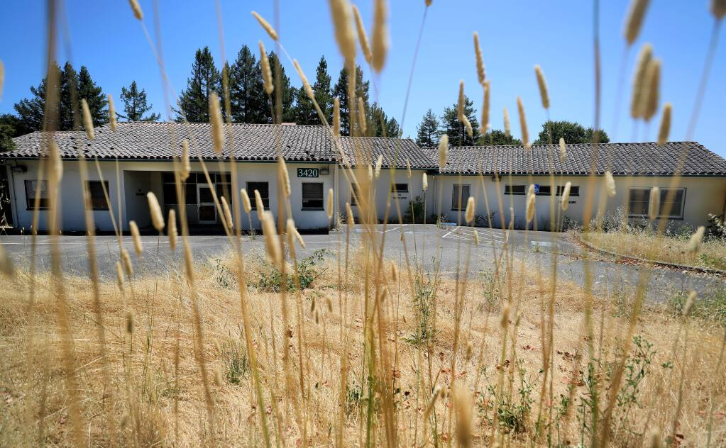 Closed county mental health buildings on Chanate Road, Friday, July 19, 2019 in Santa Rosa. (Kent Porter / The Press Democrat) 2019