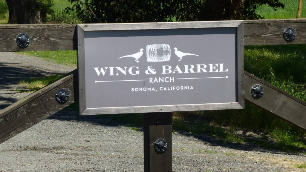 Gate to the Wing & Barrel Ranch, a private hunting and gun club off Highway 37 just east of Hwy 121.
