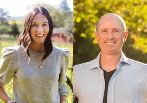 Napa-based wine firm Demeine Estates hires Leila Pearson, left, senior vice president of sales, and Matt Adler, director of wholesale operations. (courtesy of Demeine Estates)
