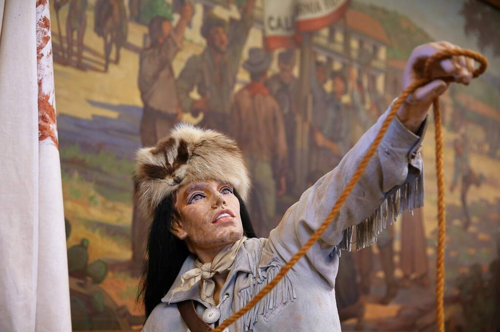 A mannecquin portraying the Bear Flag Revolt on exhibit at the Depot Park Museum in Sonoma. (Christopher Chung/ The Press Democrat)