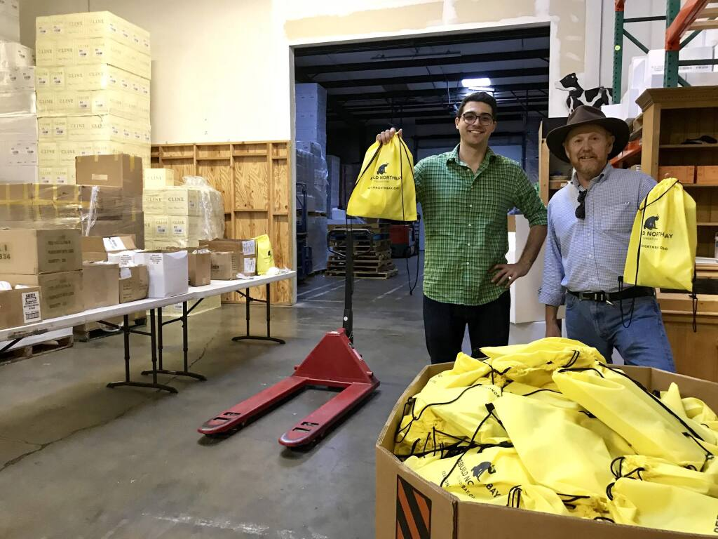 Max Friedauer and Gary Edwards headed up the efforts to assemble the Go Bags this week.