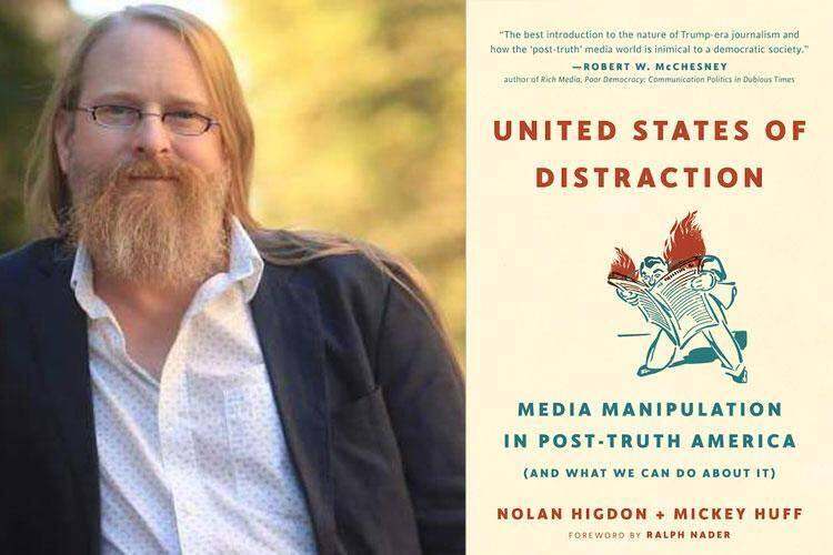 Petaluma resident Mickey Huff is co-author of 'United States of Distraction.'