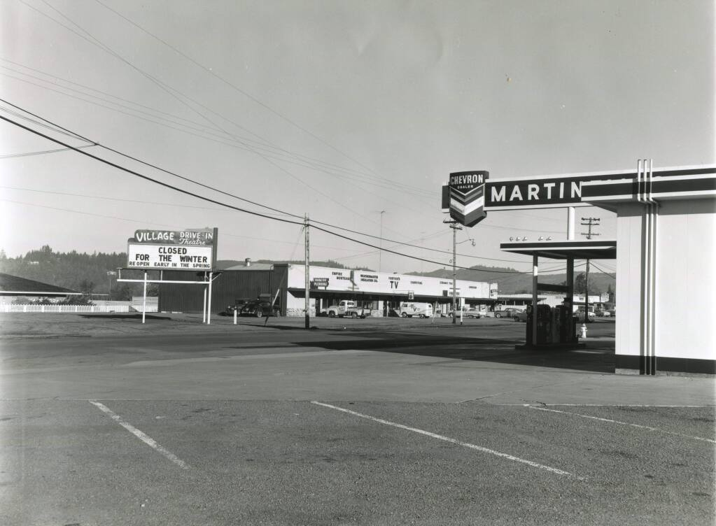 The Village Drive-In, shown in an undated photo. (SONOMA COUNTY LIBRARY)