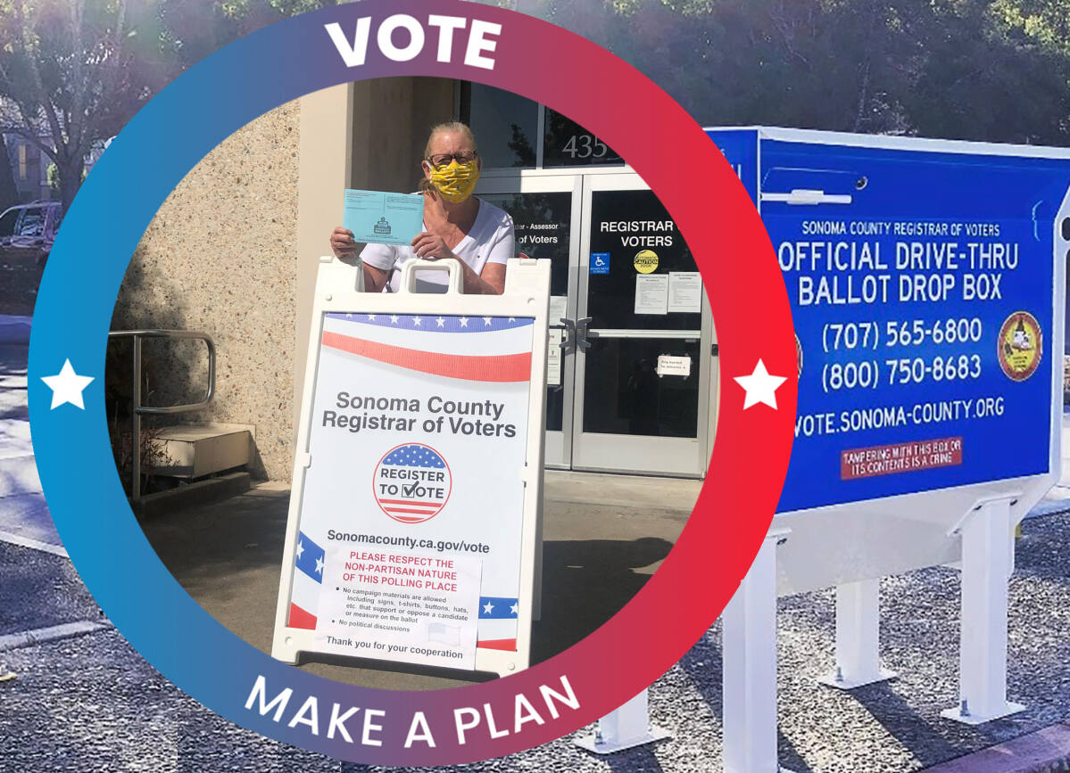 Early Voting Excitement In Sonoma County Vote By Mail Ballot Drop Boxes Locations