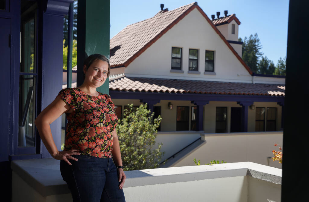 Emily Glick is the general manager/owner of The Stavrand Russian River Valley. The property, formerly The Applewood Inn, is being renovated and is set to open in August.   (Christopher Chung/ The Press Democrat)