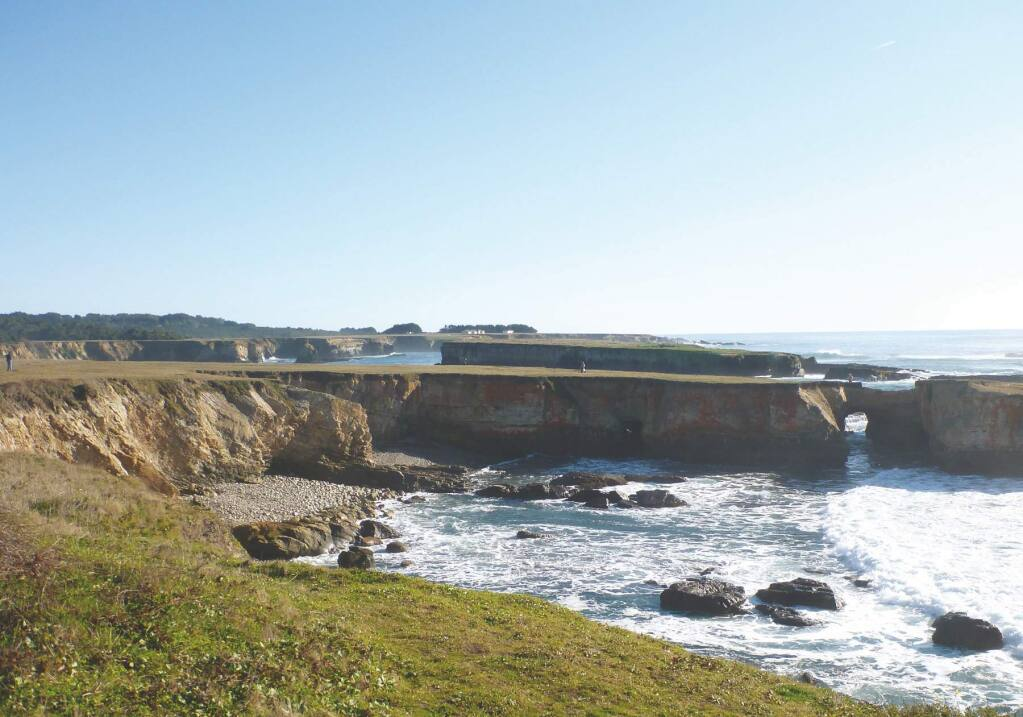Terrace 1 at The Sea Ranch is thought to have been cut by waves more than 80,000 years ago.
