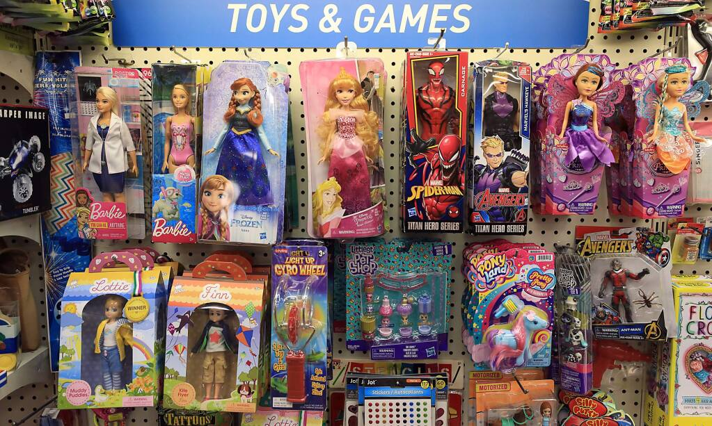 A toy display at Lark Rexall Drugs in Guerneville, Tuesday, Feb. 26, 2019. (Kent Porter / The Press Democrat) 2019