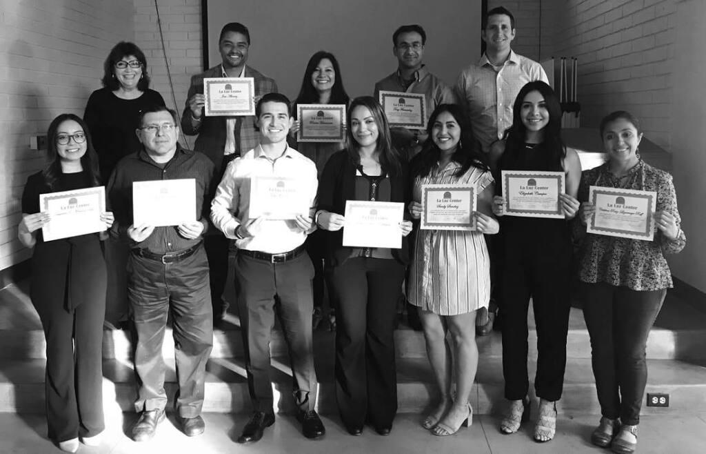 A graduating cohort of La Luz's Latino Leadership Program.