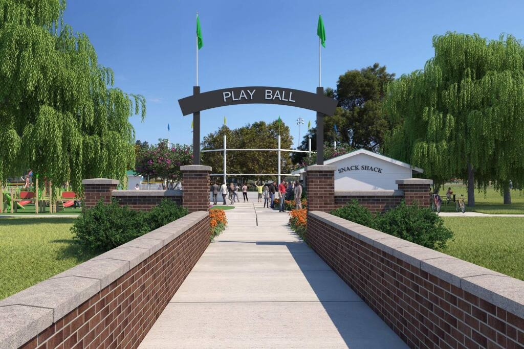 The Petaluma City Council approved the privately funded overhaul of Lucchesi Park on Monday. (THE MIRACLE LEAGUE)