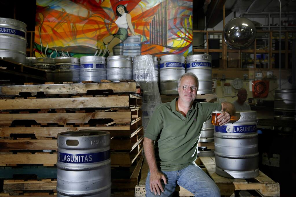Founder and owner Tony Magee at Lagunitas Brewing Co. in Petaluma, on Tuesday, Sept. 8, 2015. (BETH SCHLANKER/ PD FILE)