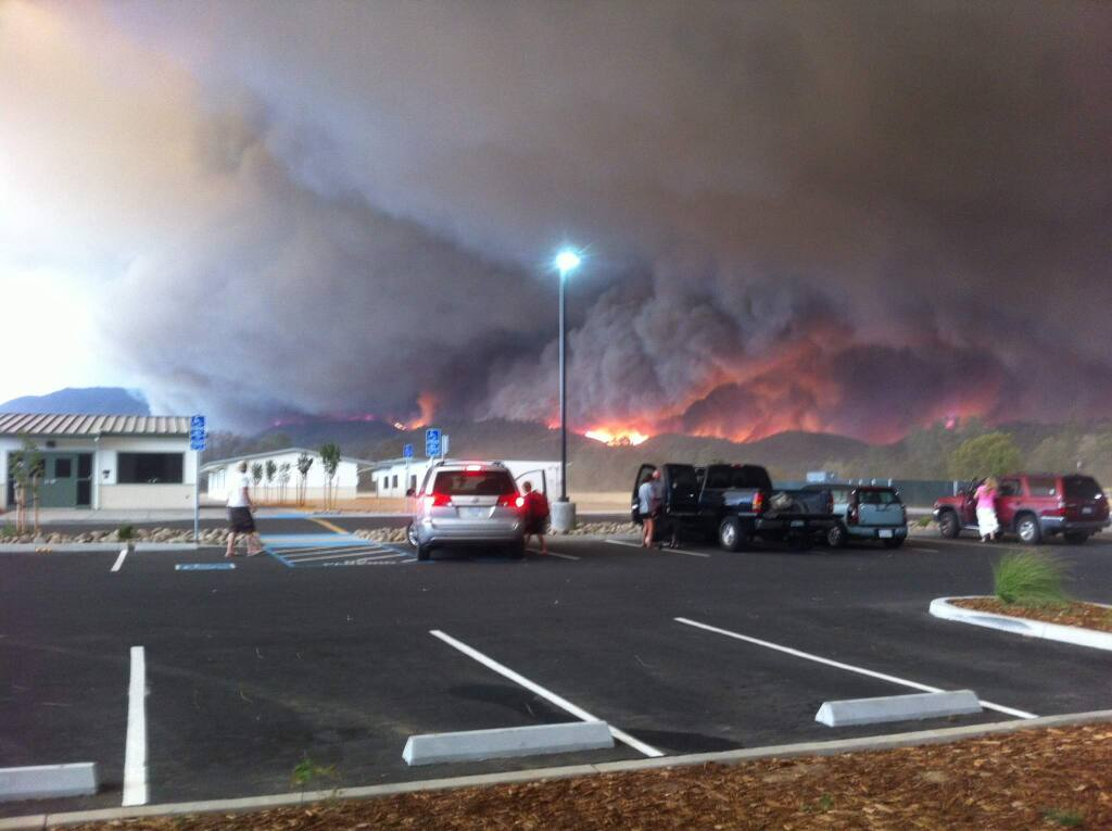 Photo of the Valley Fire from Middletown. (Paul Payne / The Press Democrat)