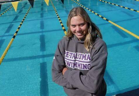 Riley Scott is on the Petaluma High swim roster, but she hasn't competed for the Trojans this year. Instead, she has honed her skills in other events, including some outside the U.S. (Crista Jeremiason / The Press Democrat)
