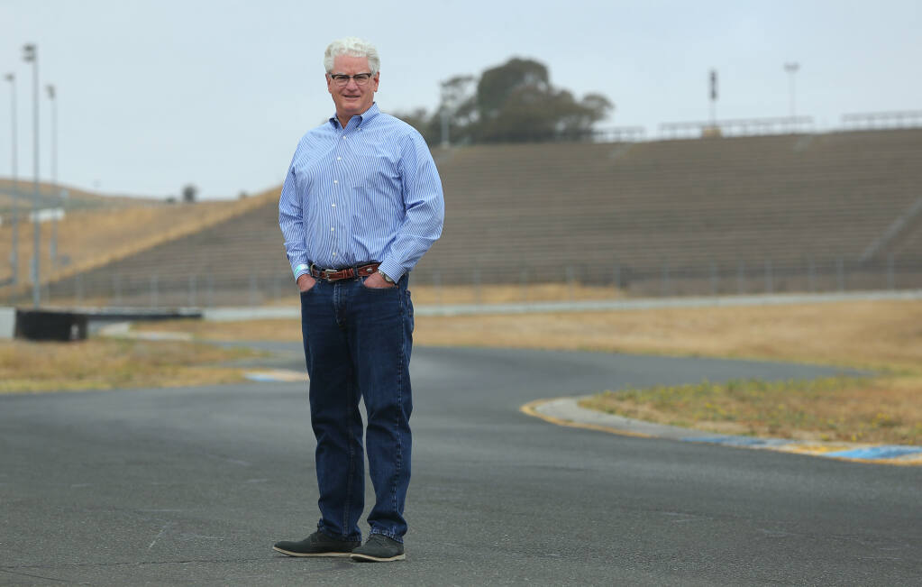 Steve Page retired in December, after 29 years as president and CEO of Sonoma Raceway. (Christopher Chung/ The Press Democrat)