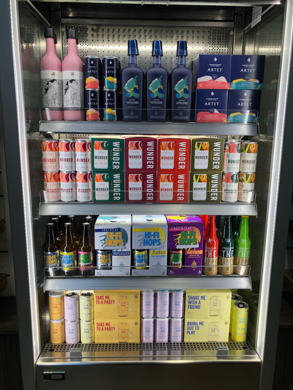 Solful dispensary in Sebastopol sells a variety of cannabis beverages. (Solful dispensary photo)