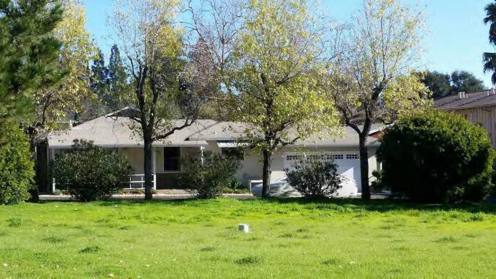 House at 19410 Sonoma Highway would be demolished to make room for two 2-story apartment buildings in a new development plan coming before the Planning Commission Feb. 9, 2017. (Submitted photo)