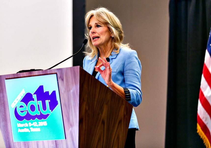 Diego Donamaria/Special to the Index-TribuneDr. Jill Biden spoke about the importance of increasing college completion rates at SXSWedu 2015 in Austin, Texas in March.