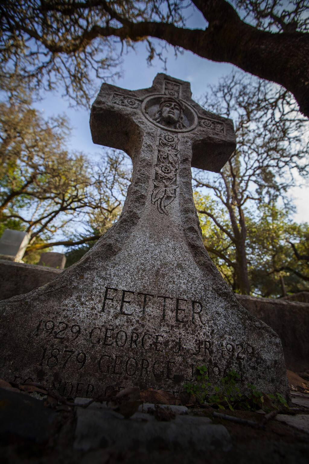 Robbi Pengelly/Index-TribuneAmong the many familiar names in Mountain Cemetery is the Fetter family.